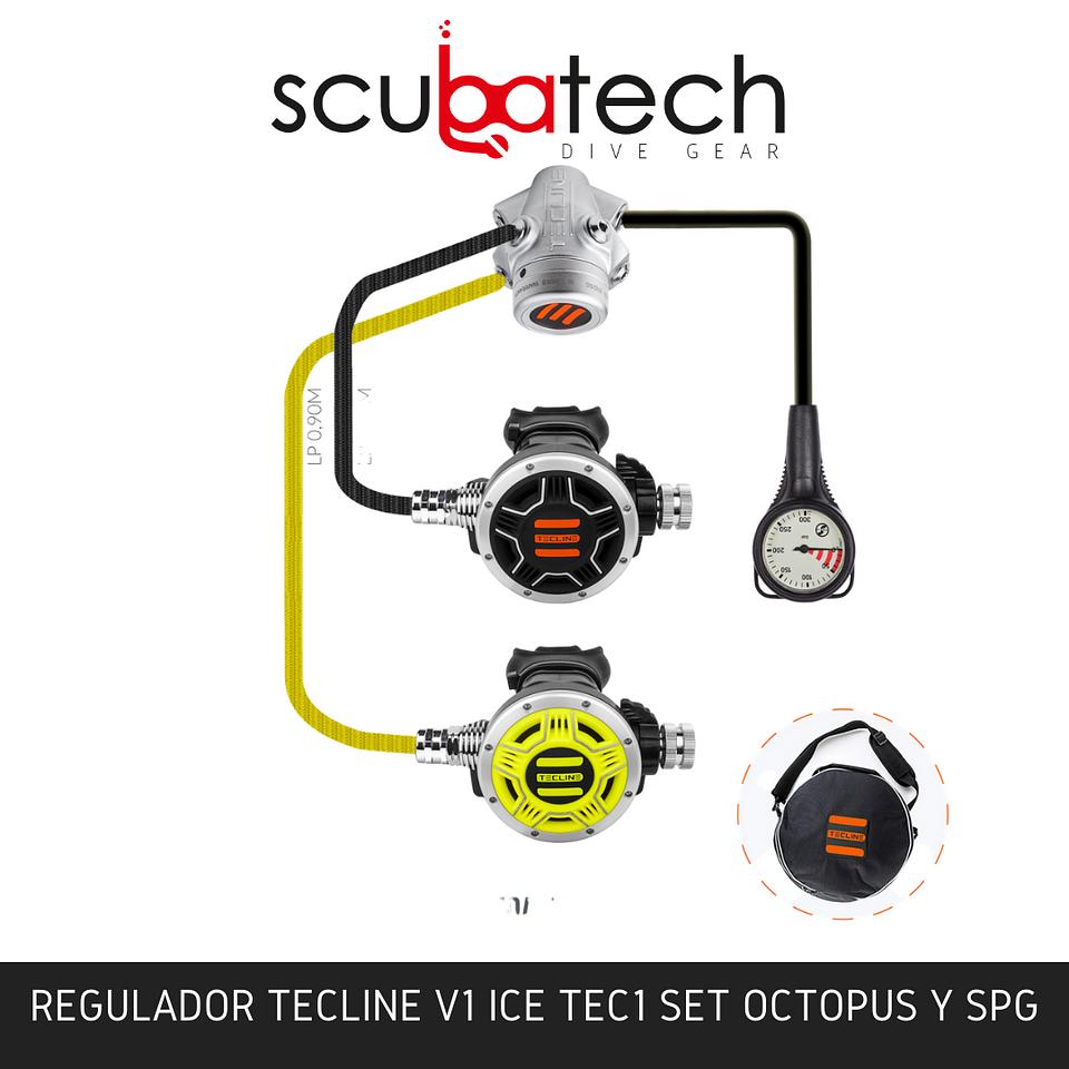SET REGULADOR TECLINE V1 ICE TEC1 I CON OCTOPUS Y SPG - EN250A