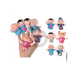Títeres De Dedos Familia