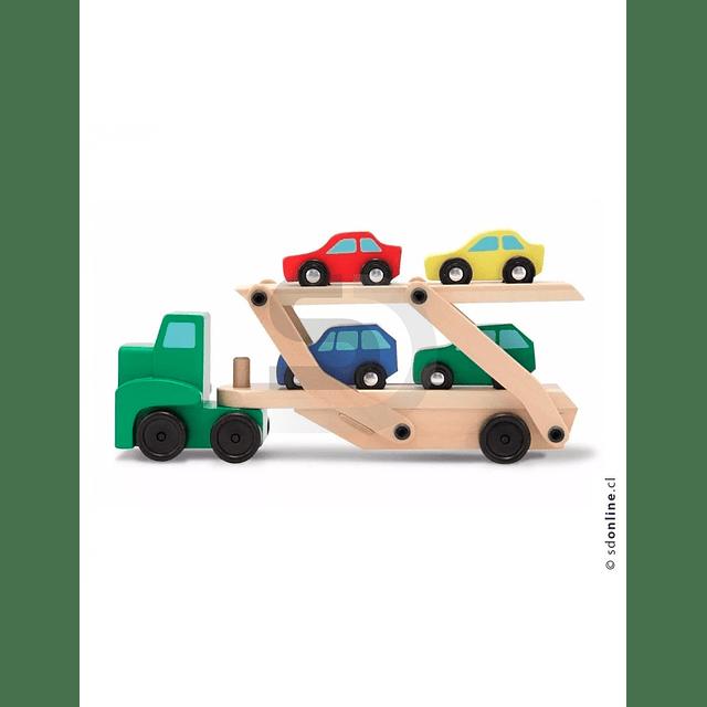 Camion Transporte Madera 4 Autos