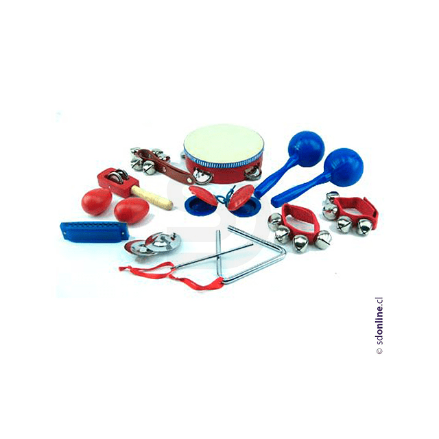 Maleta Musical 10 Instrumentos Plásticos