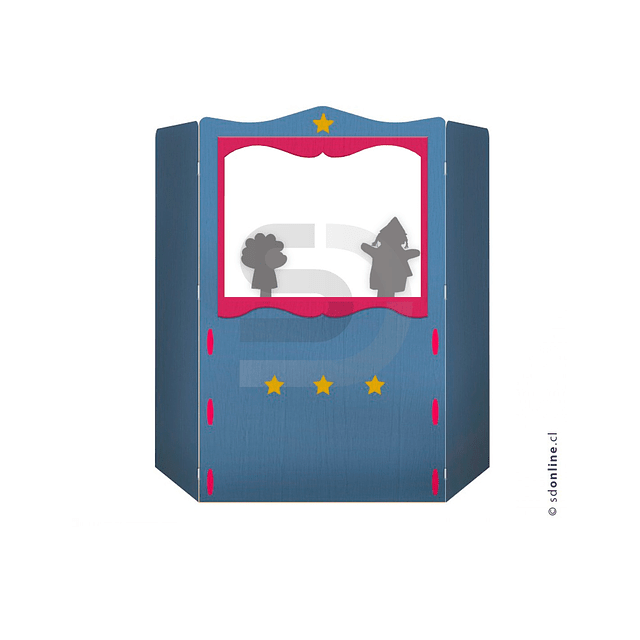 Teatro De Títeres Plegable Mas Kit Sombra