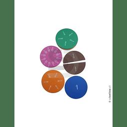 Fracciones Circulares Magnéticas Goma Eva