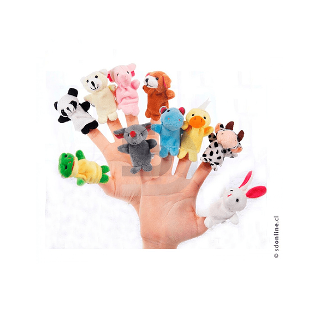 Títeres De Dedos Animales 10Und