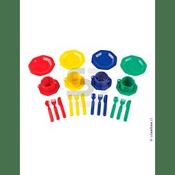 Set De Te 4 Colores 24Pza