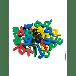 Letras Magnéticas Chicas Goma Eva Pote De 175 Und 3 Cm