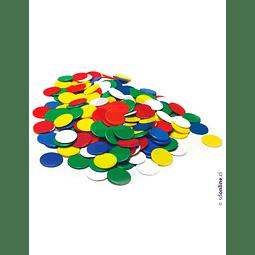 Fichas Plásticas De Colores 500Pza 22Mm