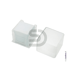 Cubre Objeto Caja Plástica 24X24Mm 100Und