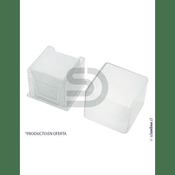 Cubre Objeto Caja Plástica 18X18Mm 100Und