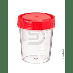 Frasco Plástico Estéril Tapa Roja 100Ml