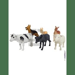 Animales Granja Set 6 Und 8-10 Cm