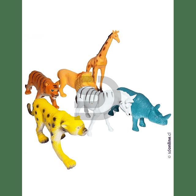 Animales Selva Set 6 Und 8-10Cm