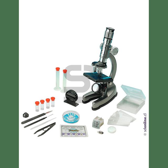 Microscopio Metálico Con Accesorios