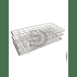 Gradilla Metálica Plastificada Para 40 Tubos 17 A 19Mm