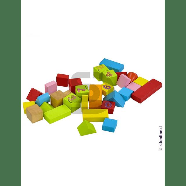 Bloques De Construcción Madera 50Pza