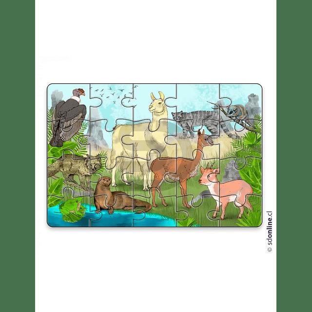 Puzzle Animales Nativos De Chile