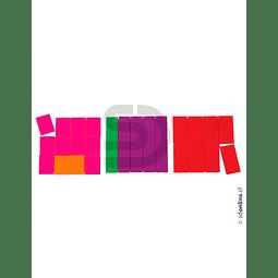 Fracciones Plásticas Cuadradas 10Cm 51Und