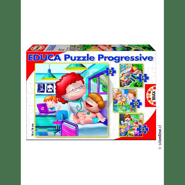 Puzzle Progresivo Quiero Ser 4 En 1