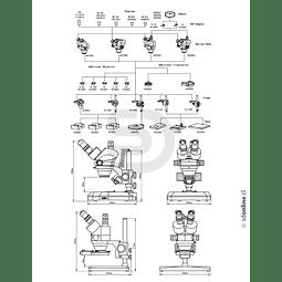 Lupa Estereoscopica Con Zoom 0,7X - 4,2X