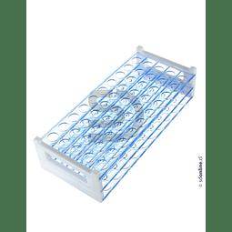 Gradilla Plástica 40 Tubos Ensayo