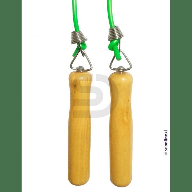 Cuerda Para Saltar Con Mangos De Madera Y Destorcedor