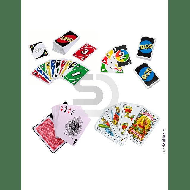 Set De Cartas Juegos Tradicionales Con Maleta