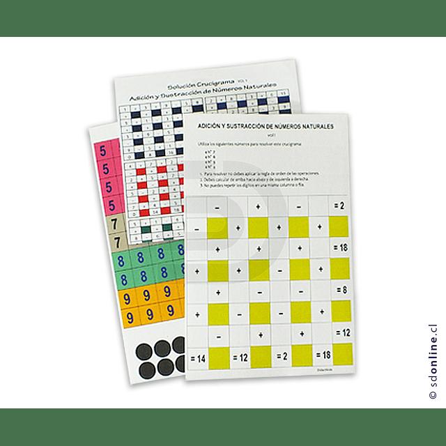 Crucigrama De Adición  Sustracción Multiplicacion Y Division De Números Enteros