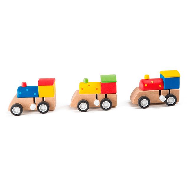 Set De 3 Locomotoras