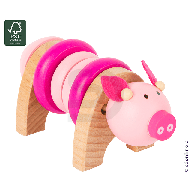 Set 4 Animales De Colores Para Enroscar