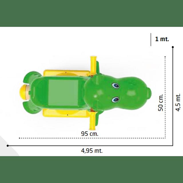 Juego de resorte Hipopótamo 0166