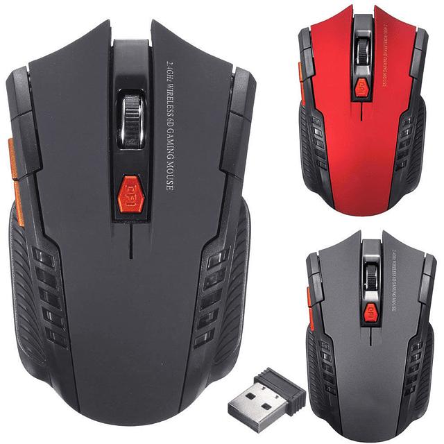 Mouse Gamer Inalámbrico 2.4GHZ - Dorado
