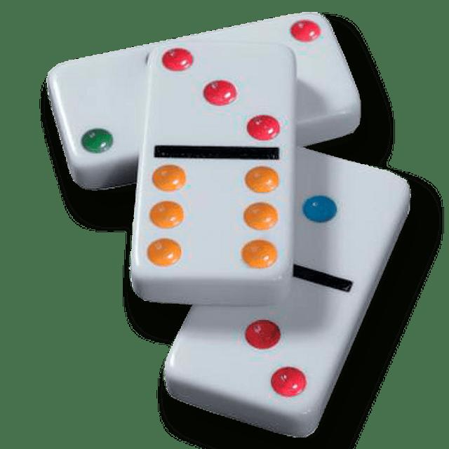 Domino Colores Caja Plastica 8mm