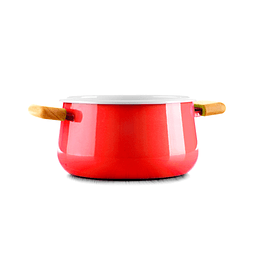 Red Ceramic Saucepan