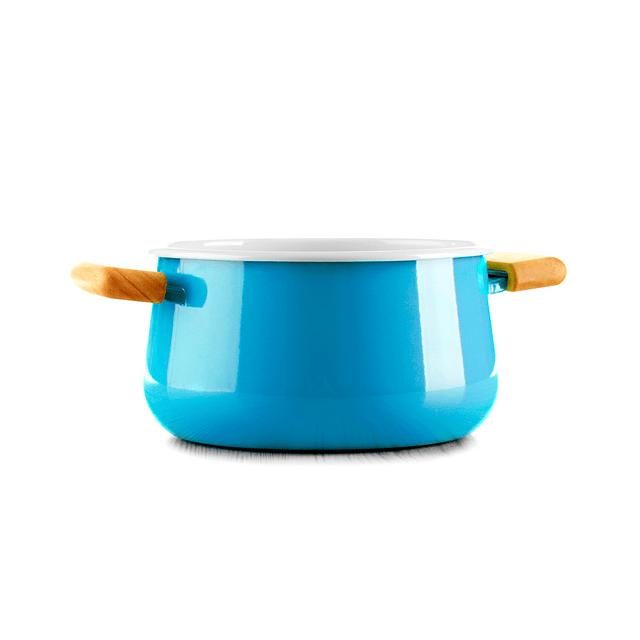 Blue Ceramic Saucepan