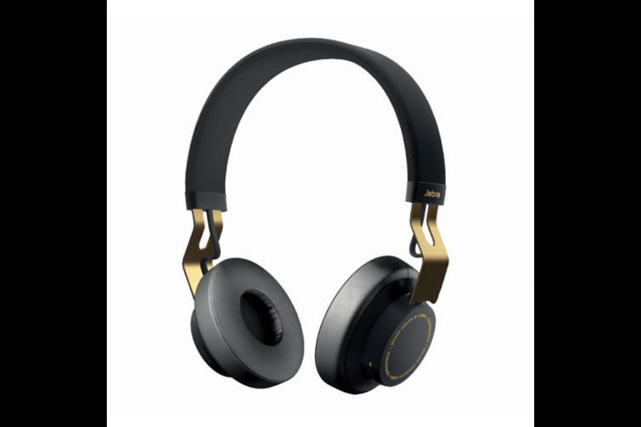 Sem fio Bluetooth estéreo Jabra CONTINUAR fones de ouvido (ouro preto)