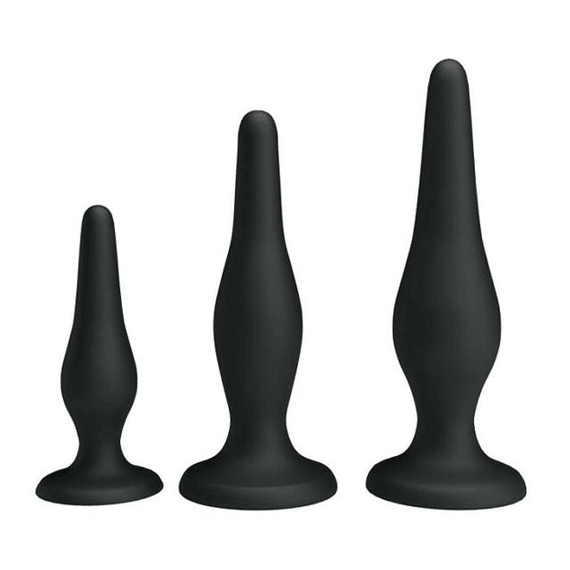 Kit Anal Negro 3 piezas