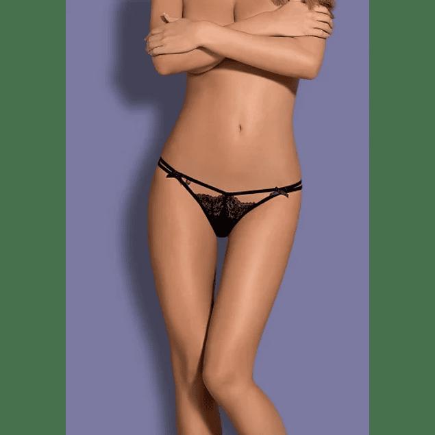 Calzón Doble Tira Intensa Negro Obsessive