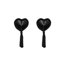 Pezoneras  Corazón c/ Borla Negra Obsessive