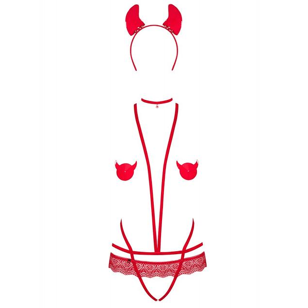 Disfraz Evilia Teddy Rojo Obsessive