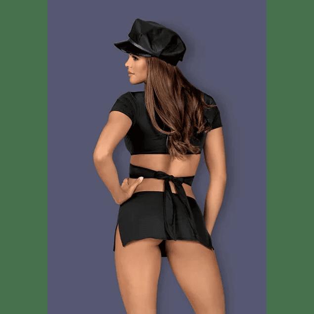 Disfraz Mujer Policía Negro Obsessive