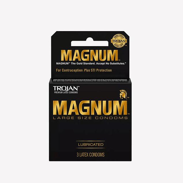 Condón Trojan Magnum / large Original Pack x 3