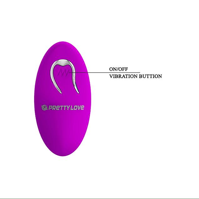 Vibrador Zona G recargable lila con control