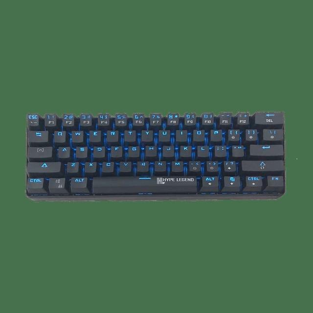 Teclado Gamer HYPE LEGEND REBEL BLACK SWITCH BLUE