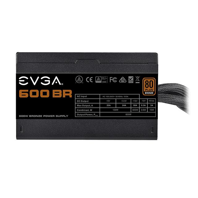 Fuente de Poder EVGA 600W BR 80 PLUS BRONCE