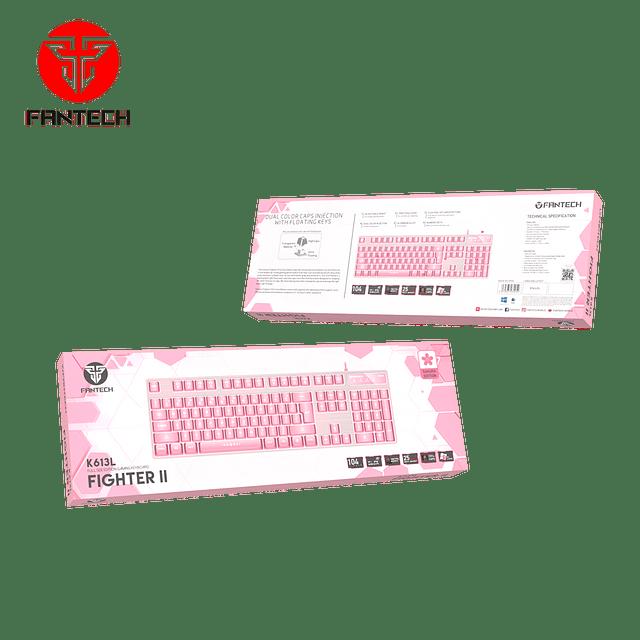 Teclado membrana FANTECH FIGHTER K613L SAKURA EDITION