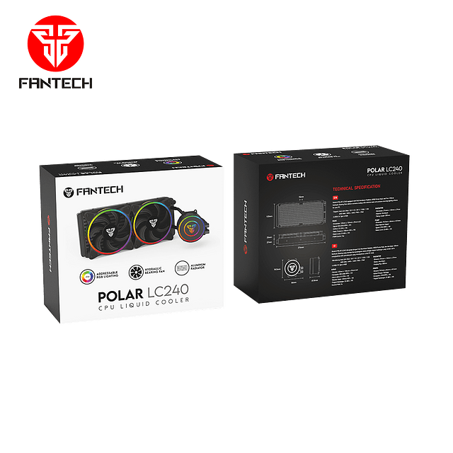 Refrigeracion liquida FANTECH POLAR LC240 BLACK EDITION