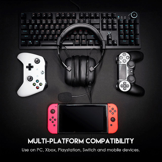 Audífonos Gamer FANTECH MH90 SONATA BLACK EDITION