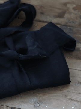 Meet Milk Slub Linen Blend Black