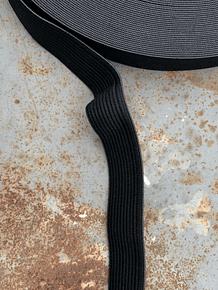 Elástico preto 19 mm | Black Elastic 19 mm