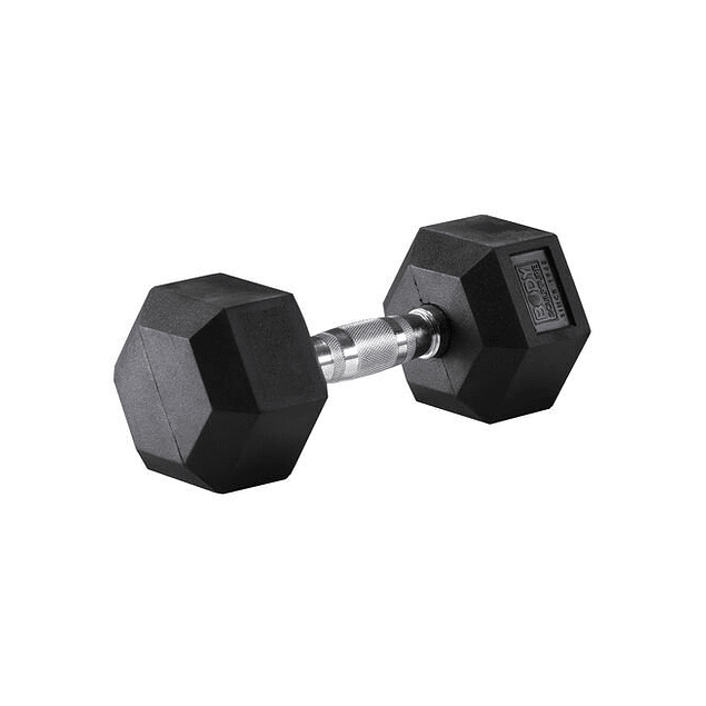 MANC.HEXA. 12,5KG C/U RUBBER DUMBBELL BODYSCULPTURE