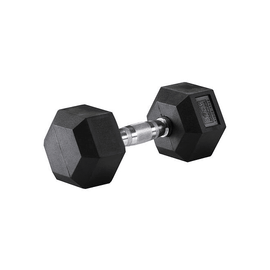 Mancuerna hexagonal 10 kilos; Recubierta de goma - Image 2